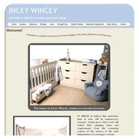 MulberryBLUE Graphic Design - Incey Wincey Nursery & Kids Room Décor & Interiors Website Design