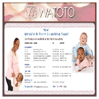 MulberryBLUE Graphic Design - Watoto Children's Clothing & Maternity Wear Website Design